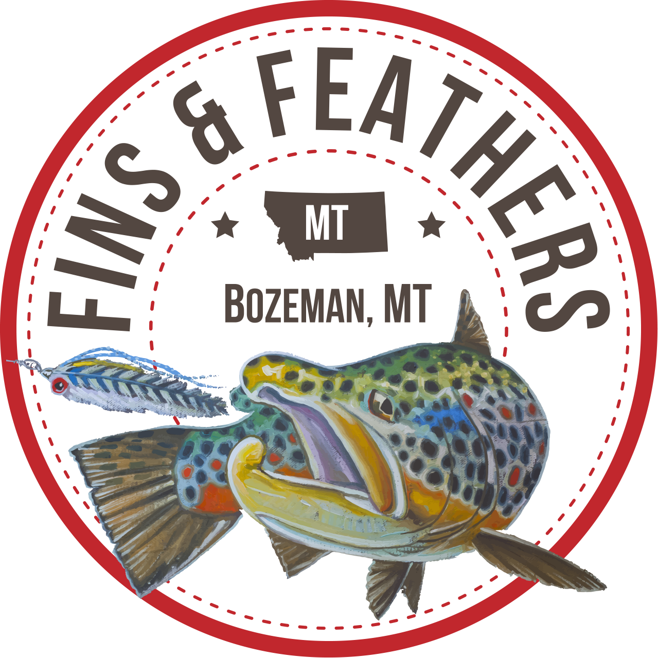 Fins and Feathers logo