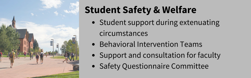 Student safety and welfare description and link to home page