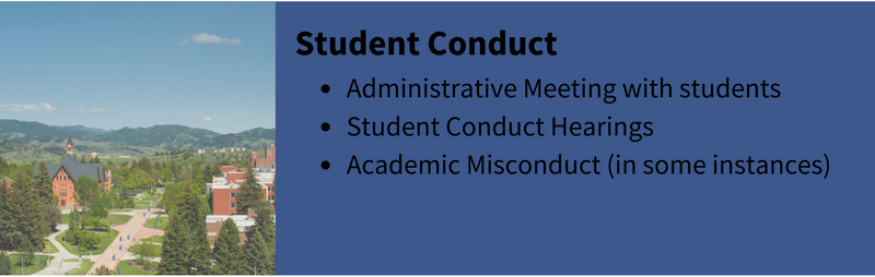 Student conduct description and link to home page