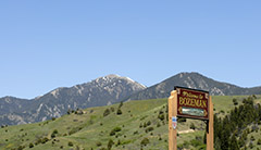 City of Bozeman welcome sign