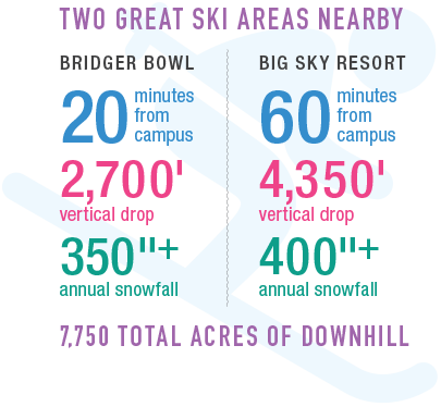 Two Great Ski Areas Nearby: Bridger Bowl and Big Sky Resort